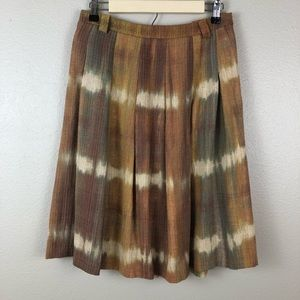 Zara Basic A-Line Pleated Tie Dye Skirt